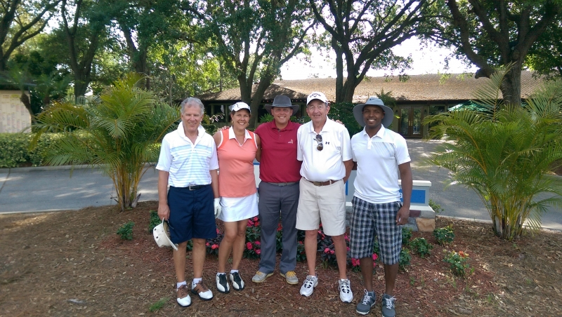 Ron Foreman, Bev Moir, Brandon Bittner, Bill Mustain, Greg Bourne, Golf Made Simple, April 2015