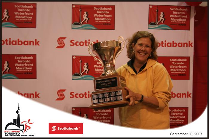 Bev with Scotiabank trophy